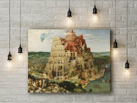 Pieter Bruegel: The Tower of Babel. Fine Art Canvas.